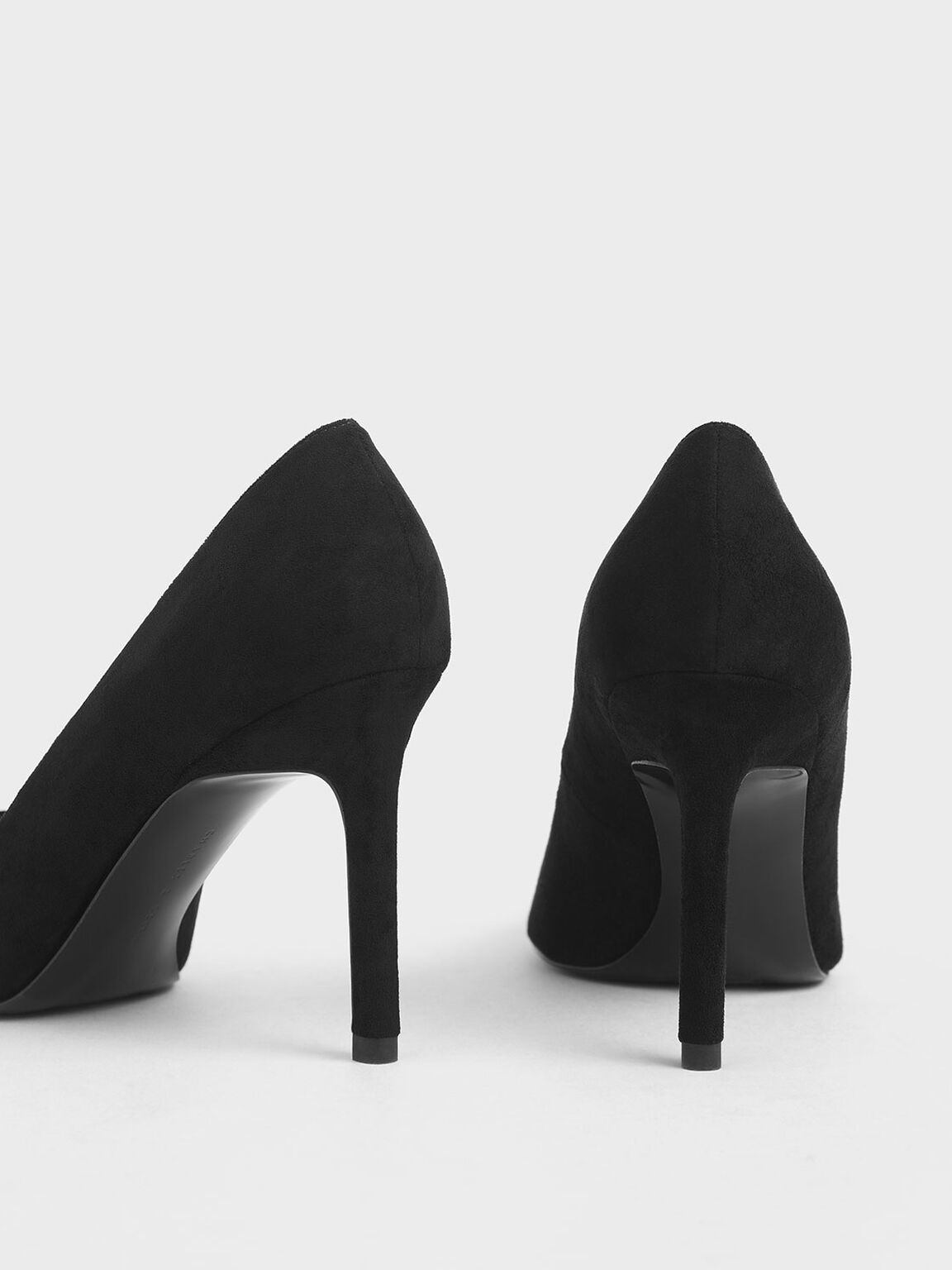 Stiletto Pumps, Black Textured, hi-res