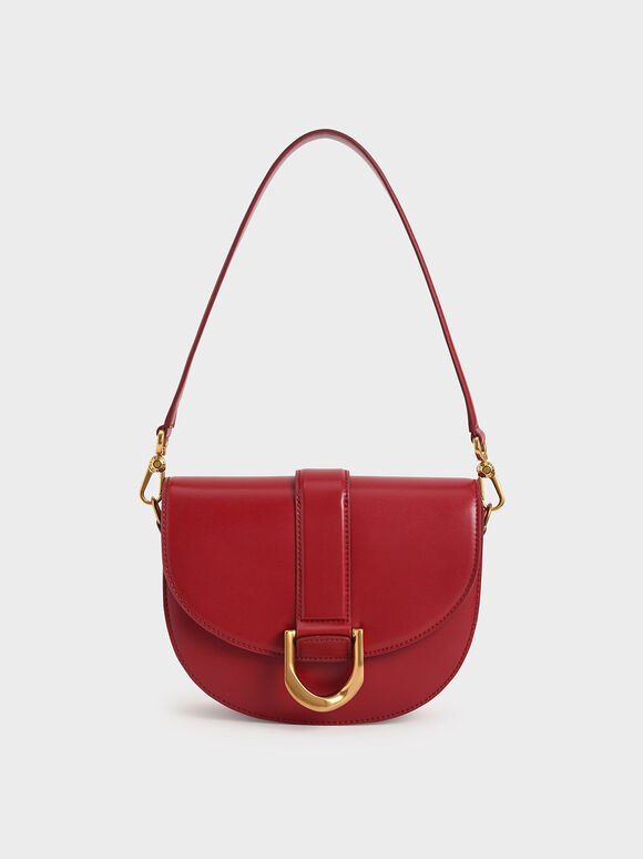Gabine Saddle Bag, Red, hi-res