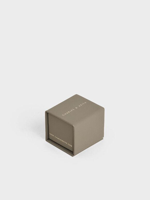 Swarovski® Crystal Double Band Open Ring, Rose Gold, hi-res