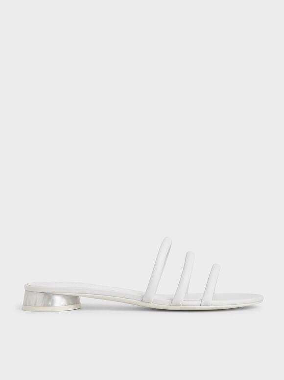 Tubular Mules, White, hi-res