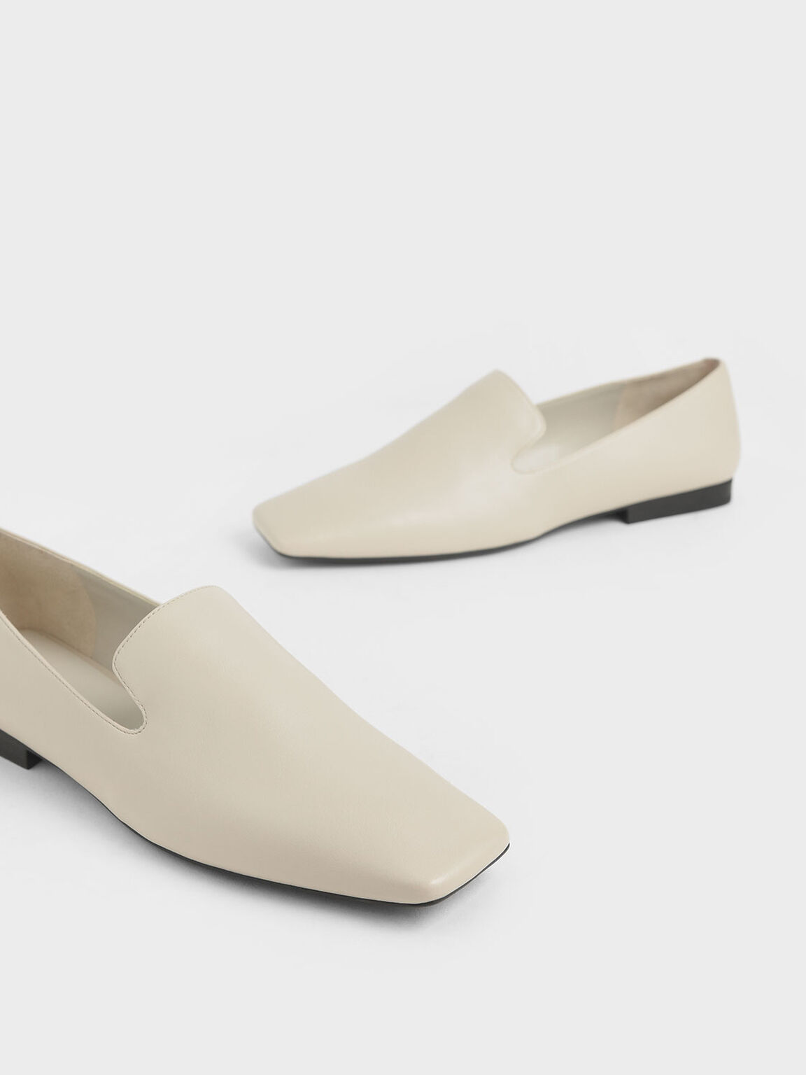 Square Toe Loafers, Chalk, hi-res