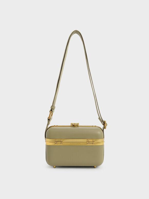 Buckle Boxy Bag, Olive, hi-res