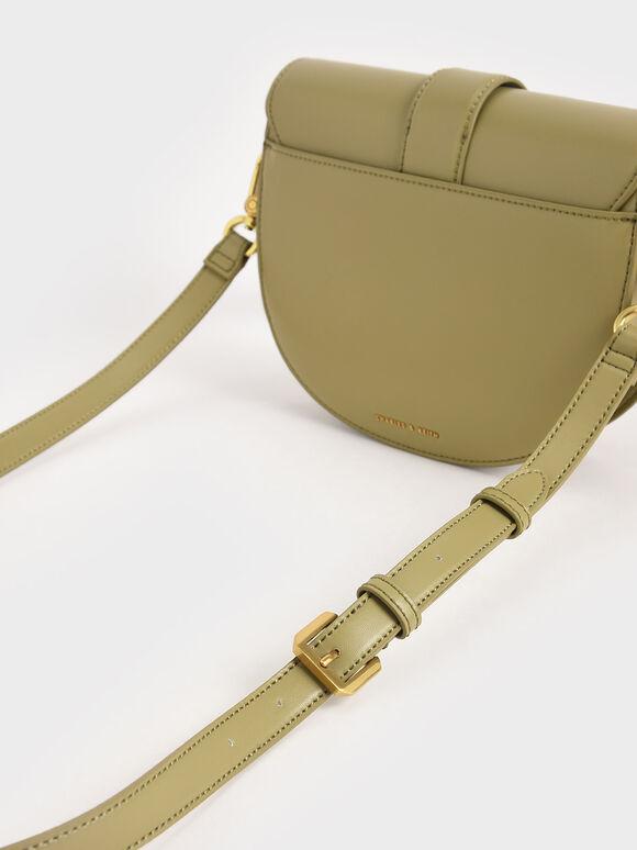 Gabine Saddle Bag, Khaki, hi-res