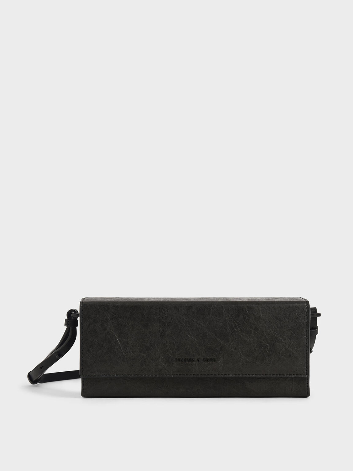 Long Boxy Crossbody Bag, Black, hi-res