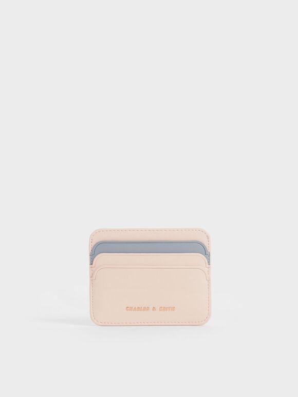 Two-Tone Multi Slot Card Holder, Light Pink, hi-res