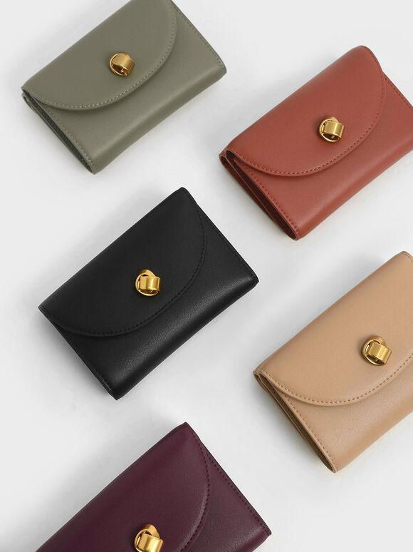Mini Front Flap Wallet, Black, hi-res