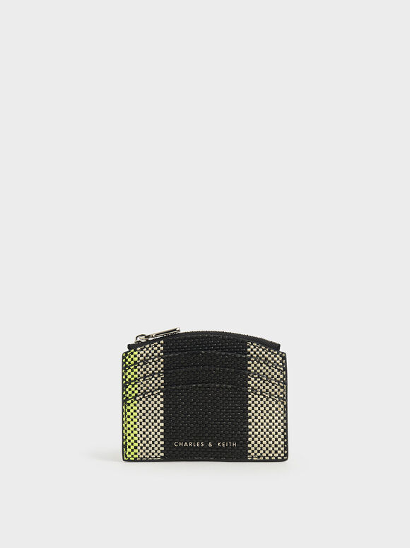 Jacquard Multi-Slot Zip Card Holder, Multi, hi-res