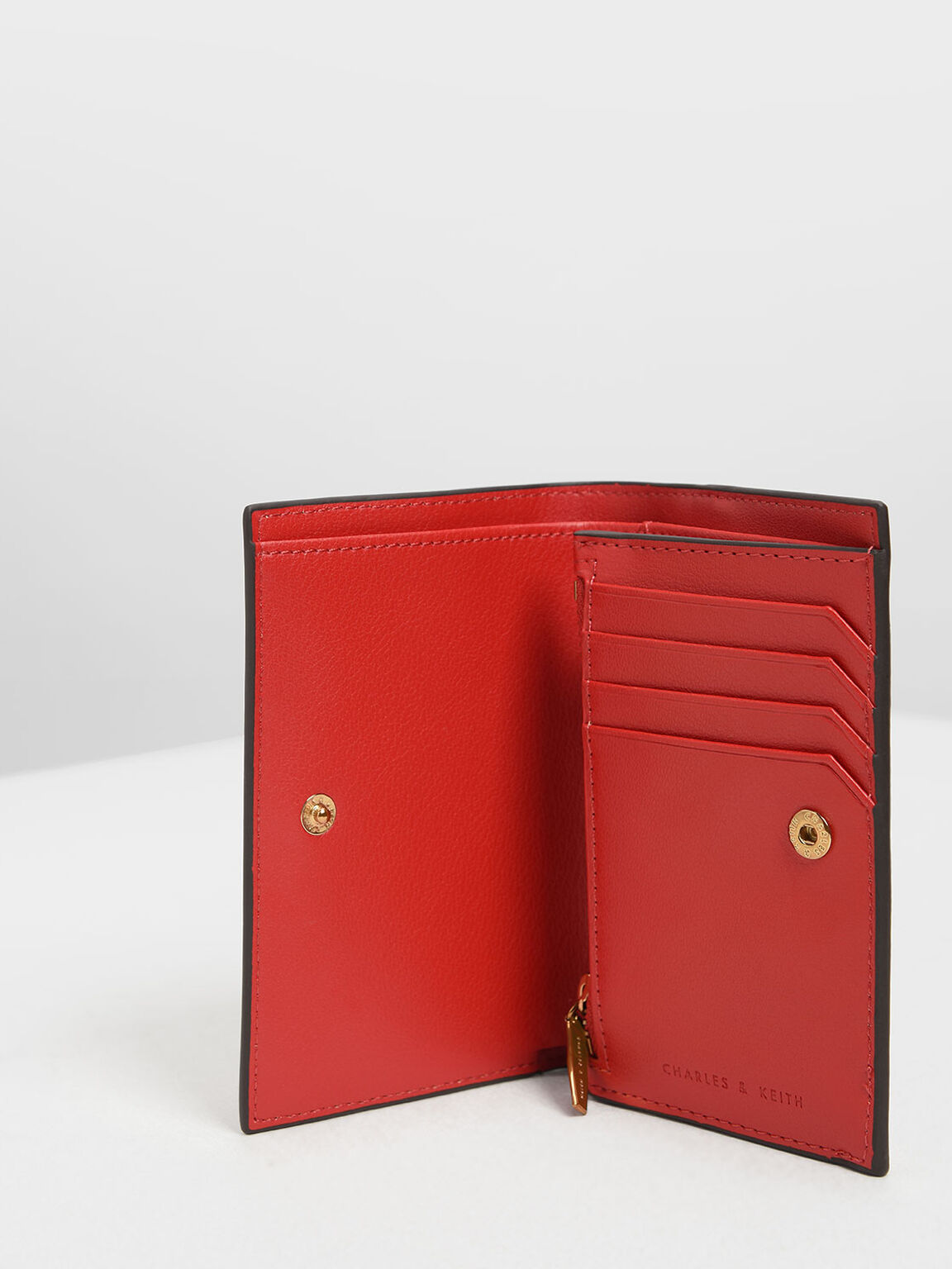 Classic Fold Wallet, Red, hi-res