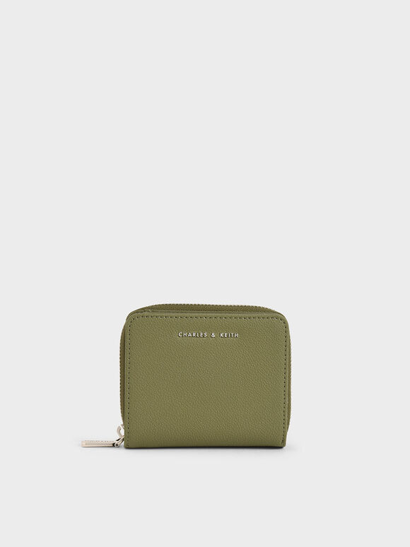 Small Zip-Around Wallet, Sage Green, hi-res
