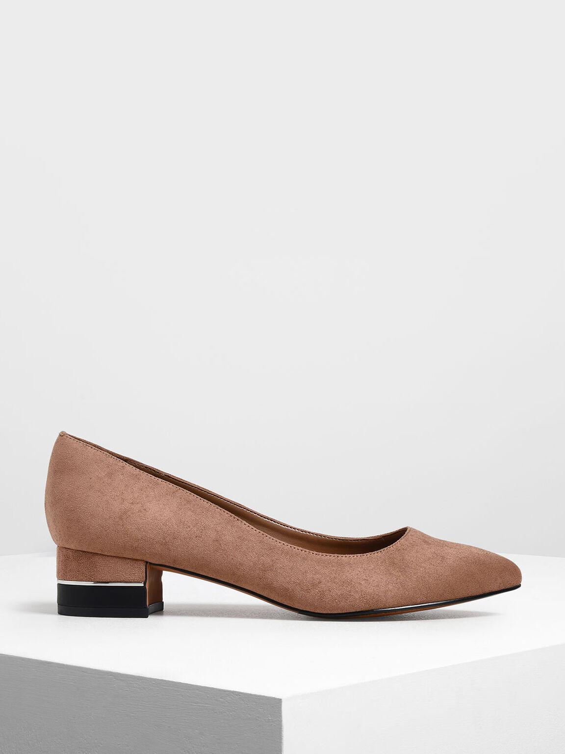 Classic Pointed Toe Pumps, Taupe, hi-res