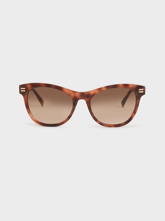 Tortoiseshell Acetate Rectangular Sunglasses, T. Shell, hi-res