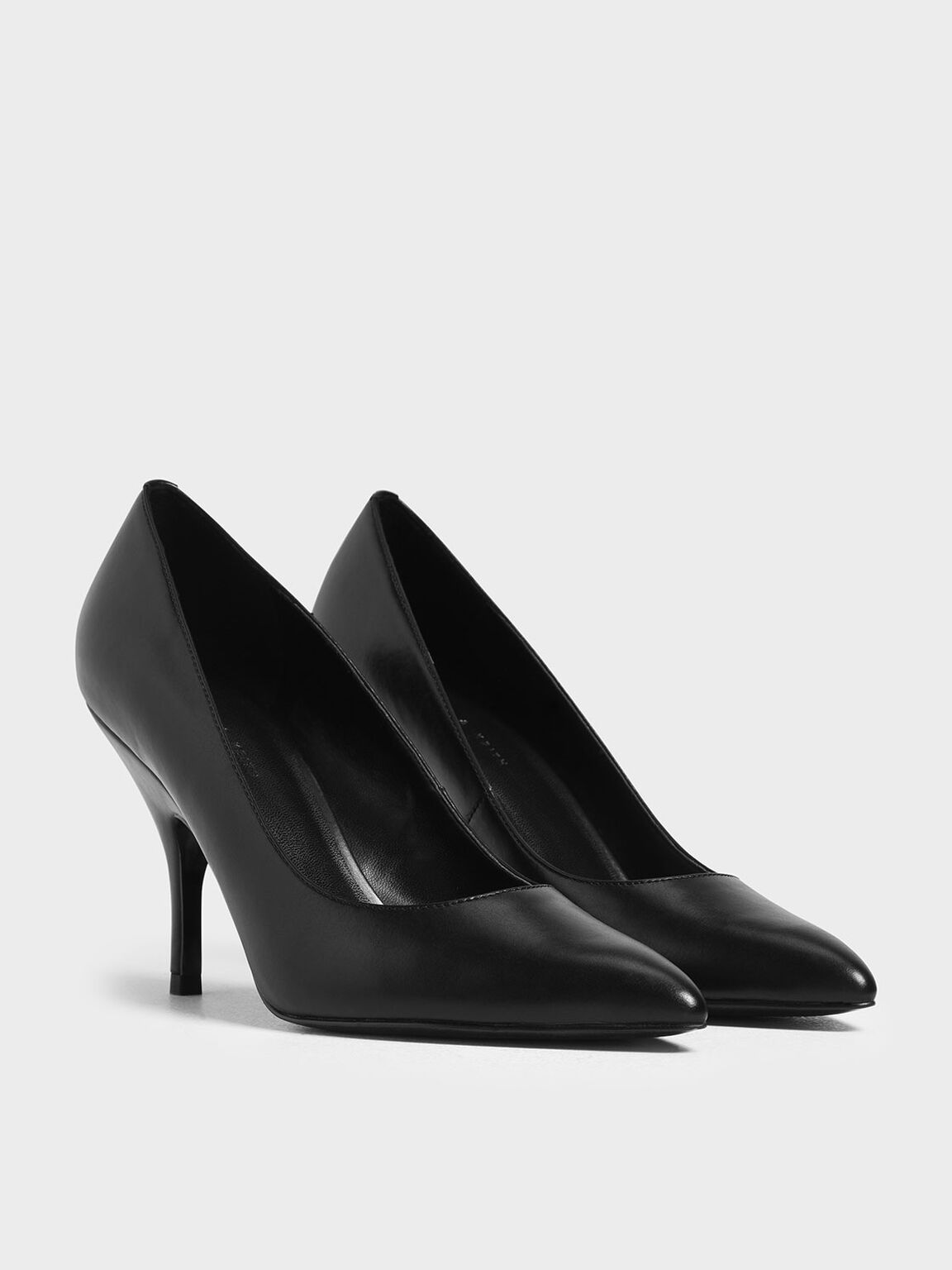 Classic Covered Pumps, Black, hi-res