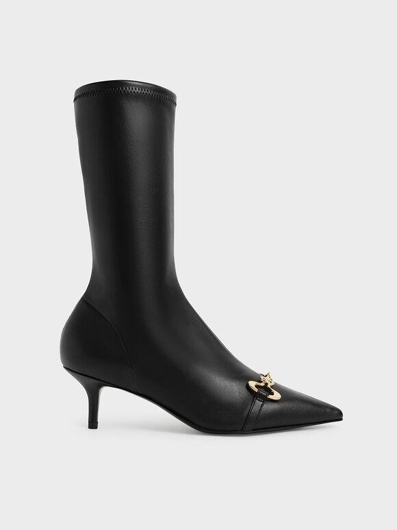 Elery Slip-On Ankle Boots, Black, hi-res