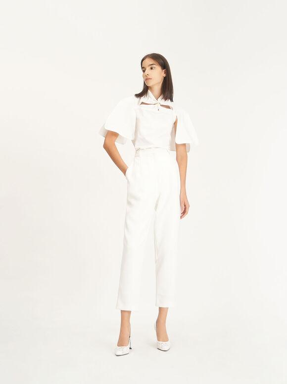 Wedding Collection: Lace & Mesh Pumps, White, hi-res