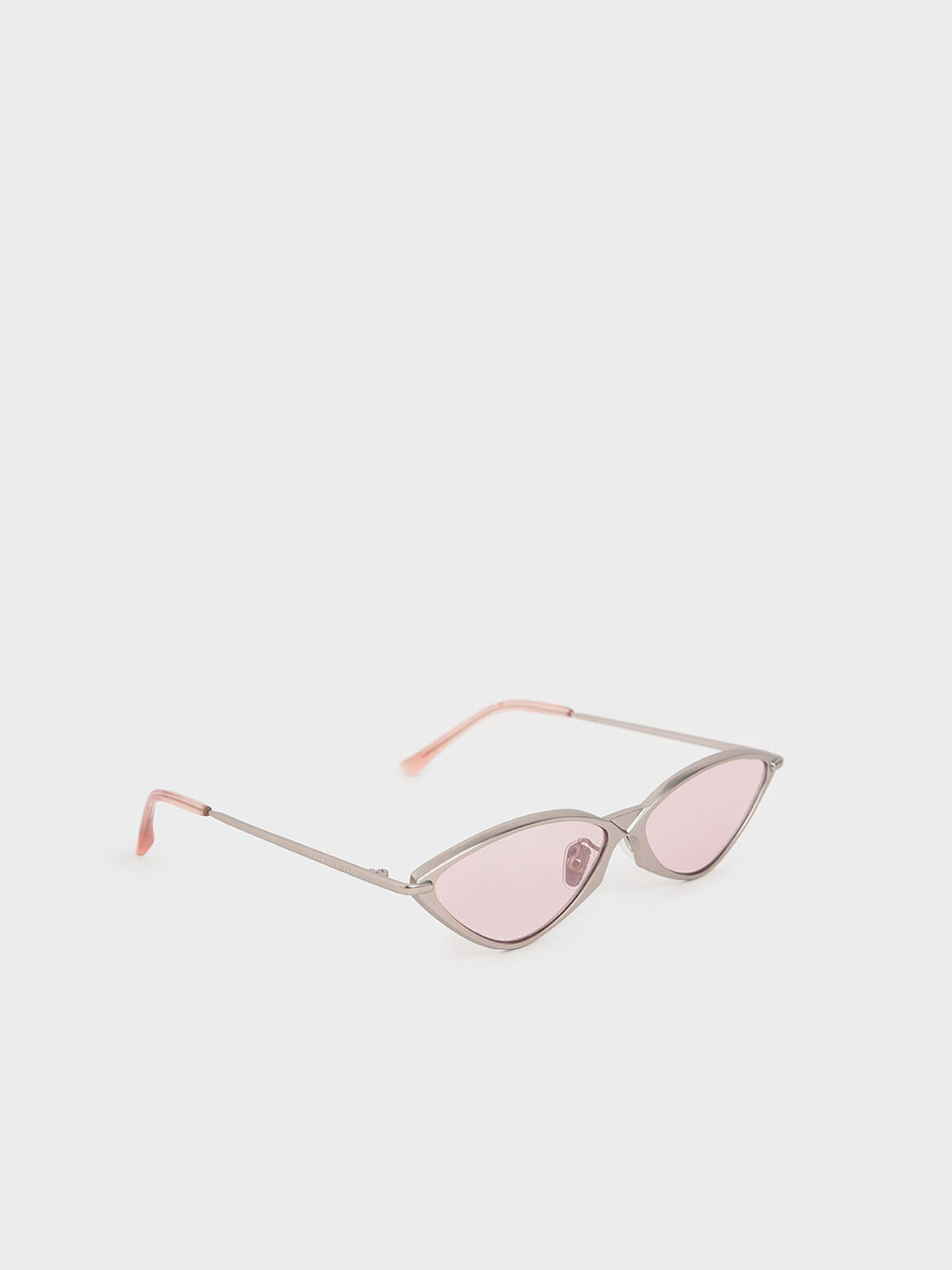 Metal Frame Cat-Eye Sunglasses, Pink, hi-res