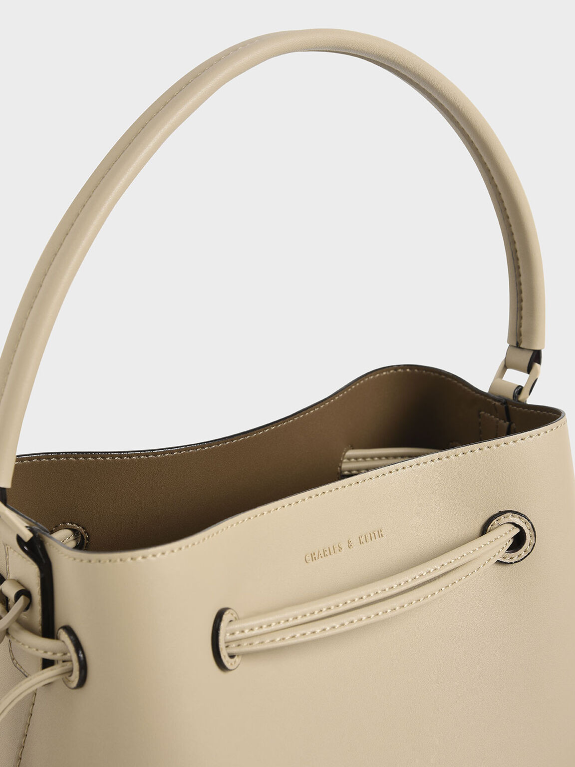 Drawstring Hobo Bag, Ivory, hi-res