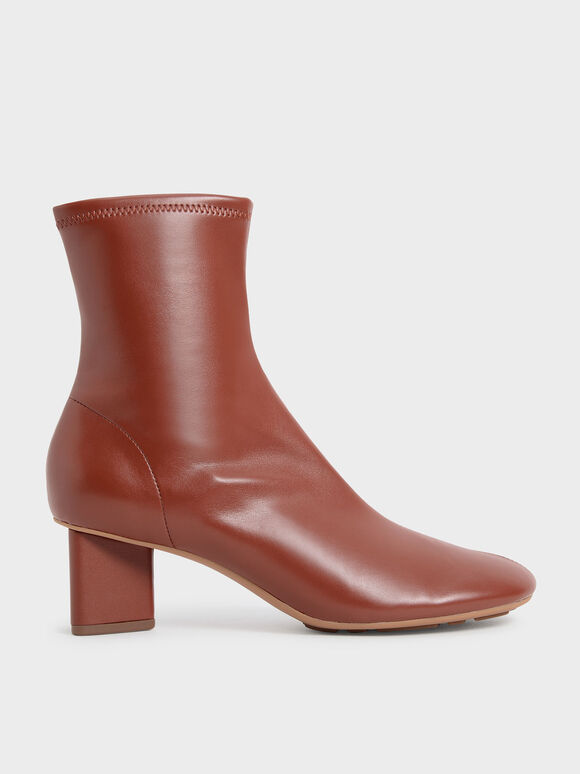 Blade Heel Ankle Boots, Brick, hi-res