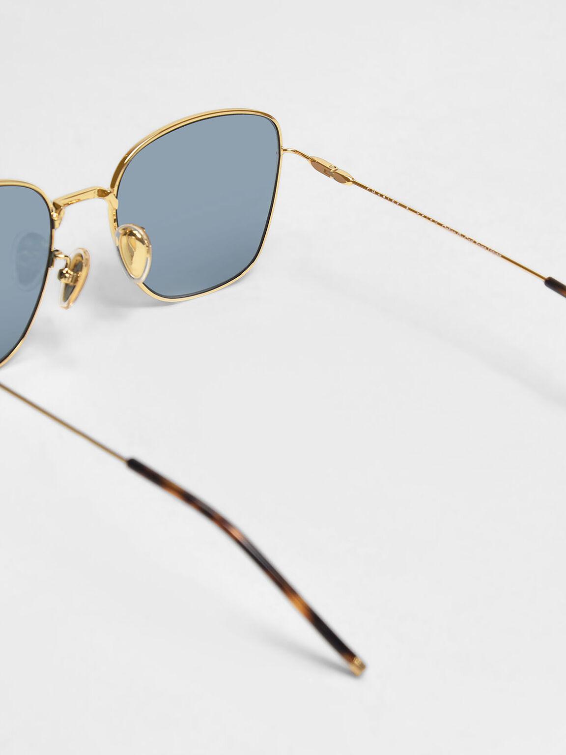 Classic Rectangular Sunglasses, Black, hi-res