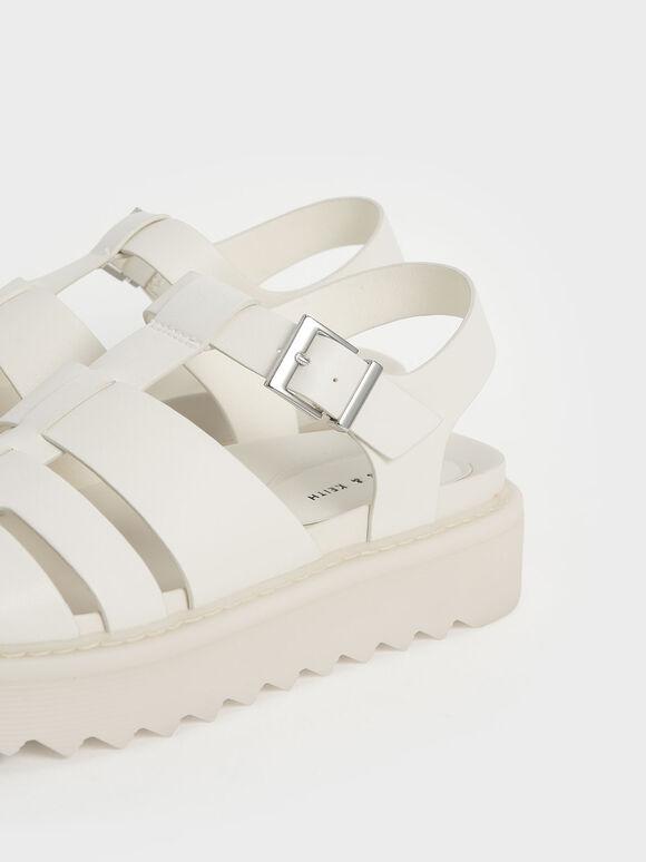 Cut-Out Sports Sandals, Chalk, hi-res