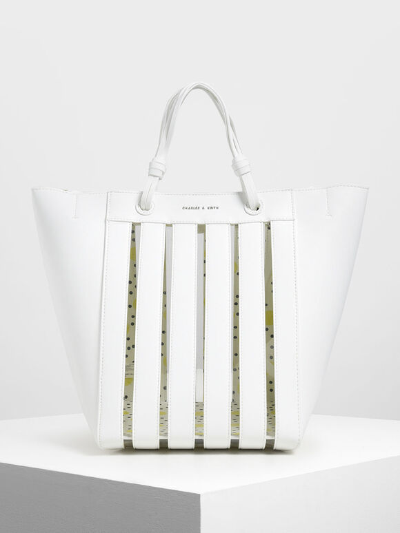 Two-Way Tote, White, hi-res