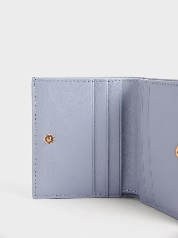 Zip Around Short Wallet, Light Blue, hi-res