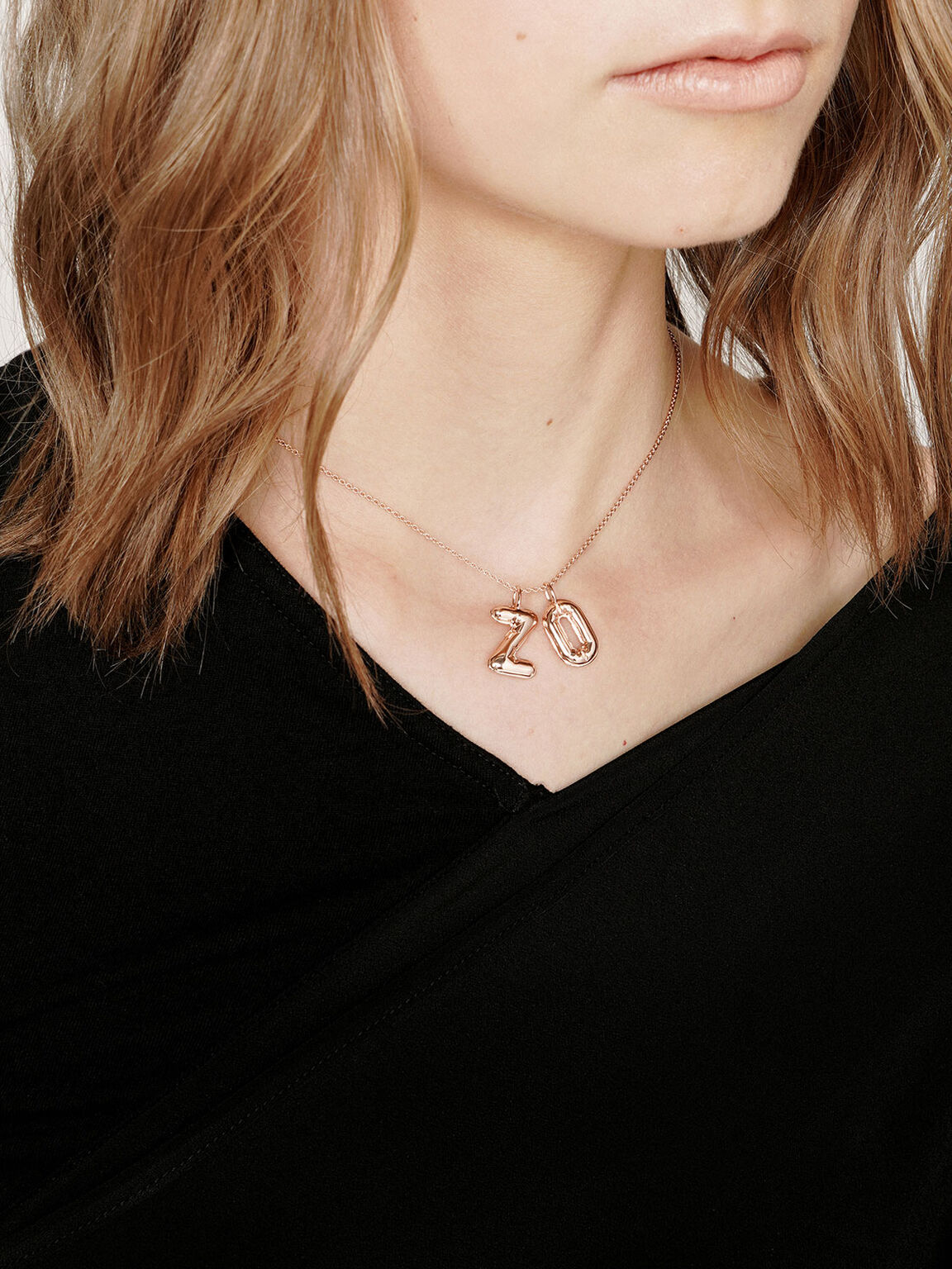 Alphabet 'O' Charm, Rose Gold, hi-res