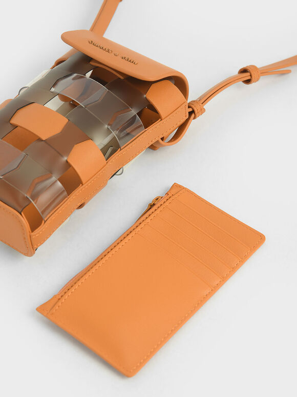 Mini Caged Pouch, Orange, hi-res