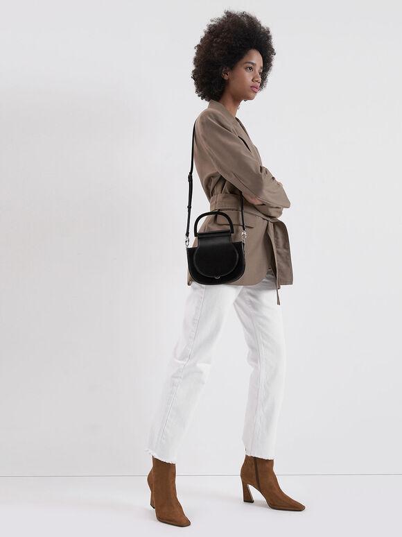 Mini Top Handle Saddle Bag, Black, hi-res