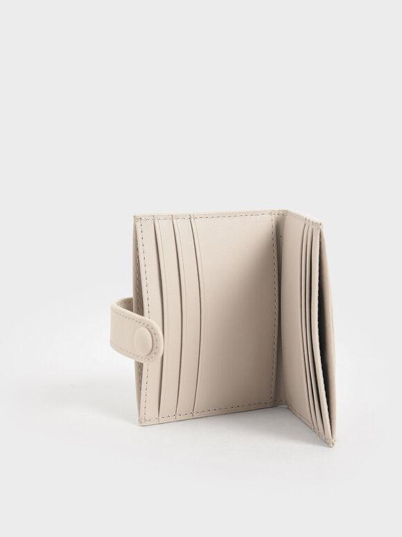 Snap Button Card Holder, Ivory, hi-res