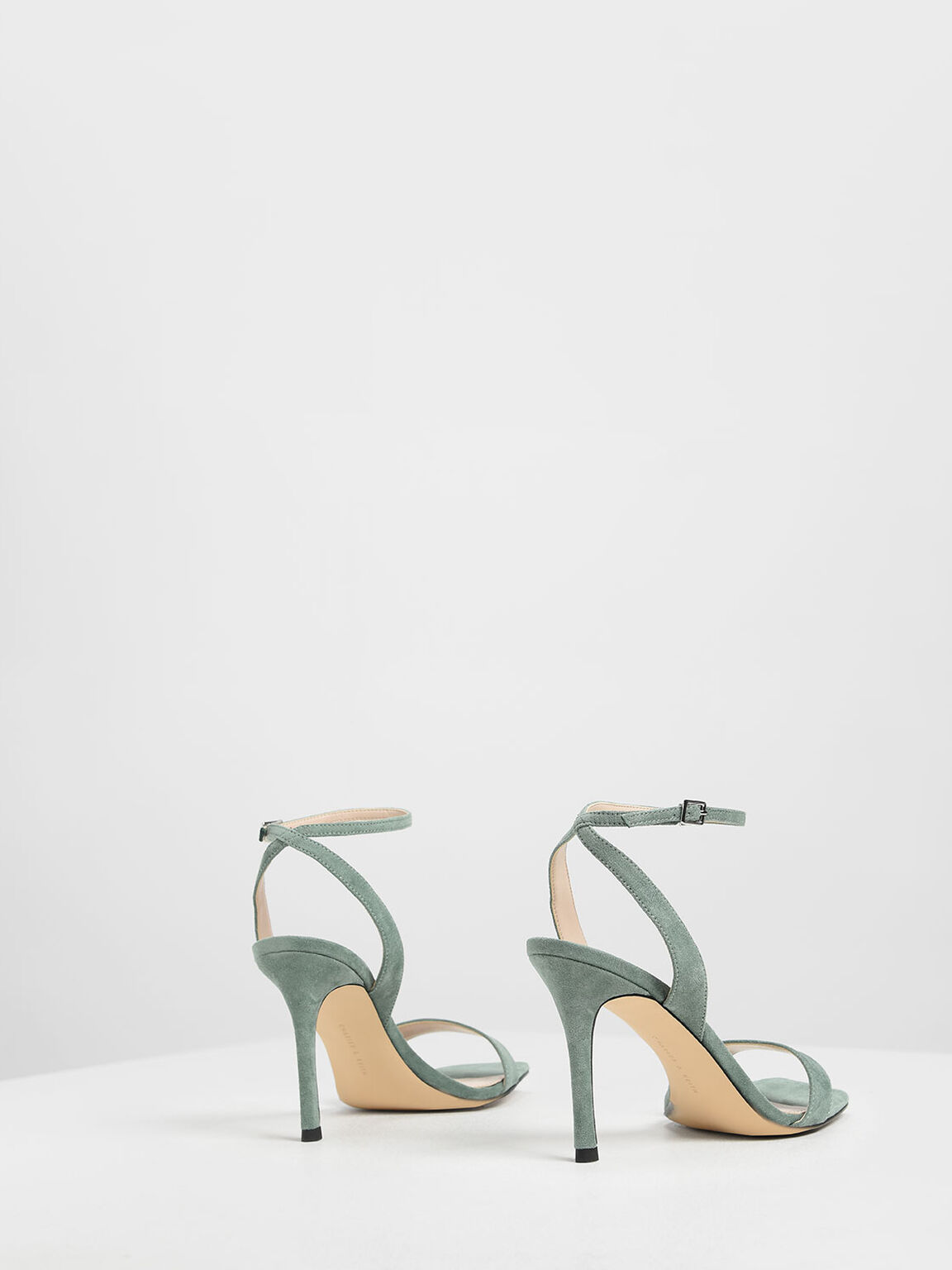 Open Toe Ankle Strap Stiletto Sandals, Mint Green, hi-res
