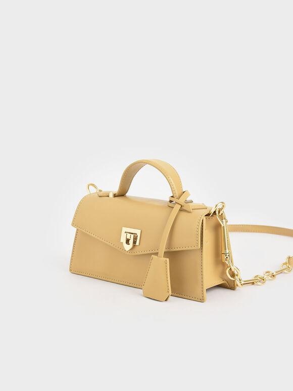 Trapeze Top Handle Bag, Yellow, hi-res
