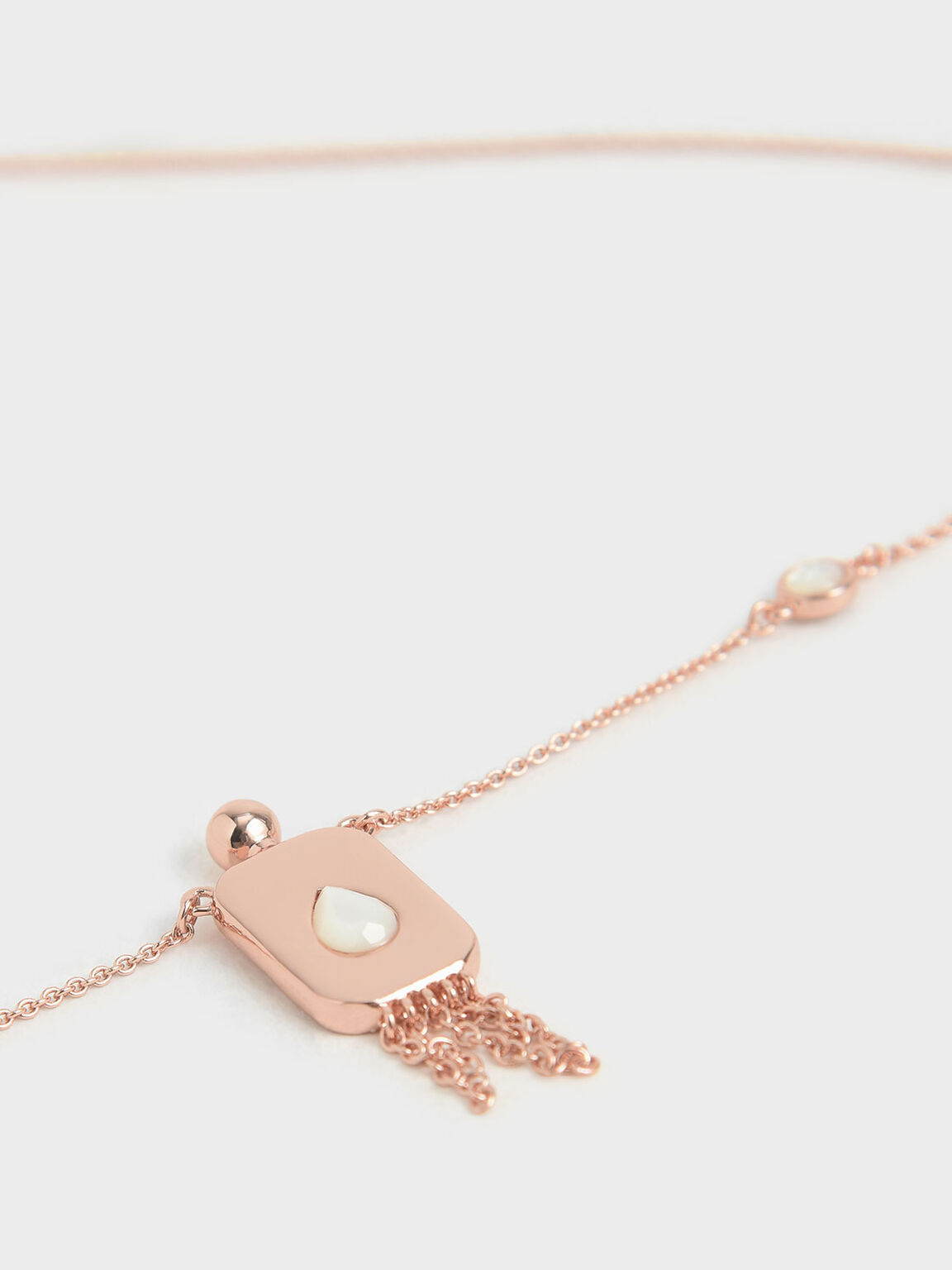Moonstone Princess Necklace, Rose Gold, hi-res