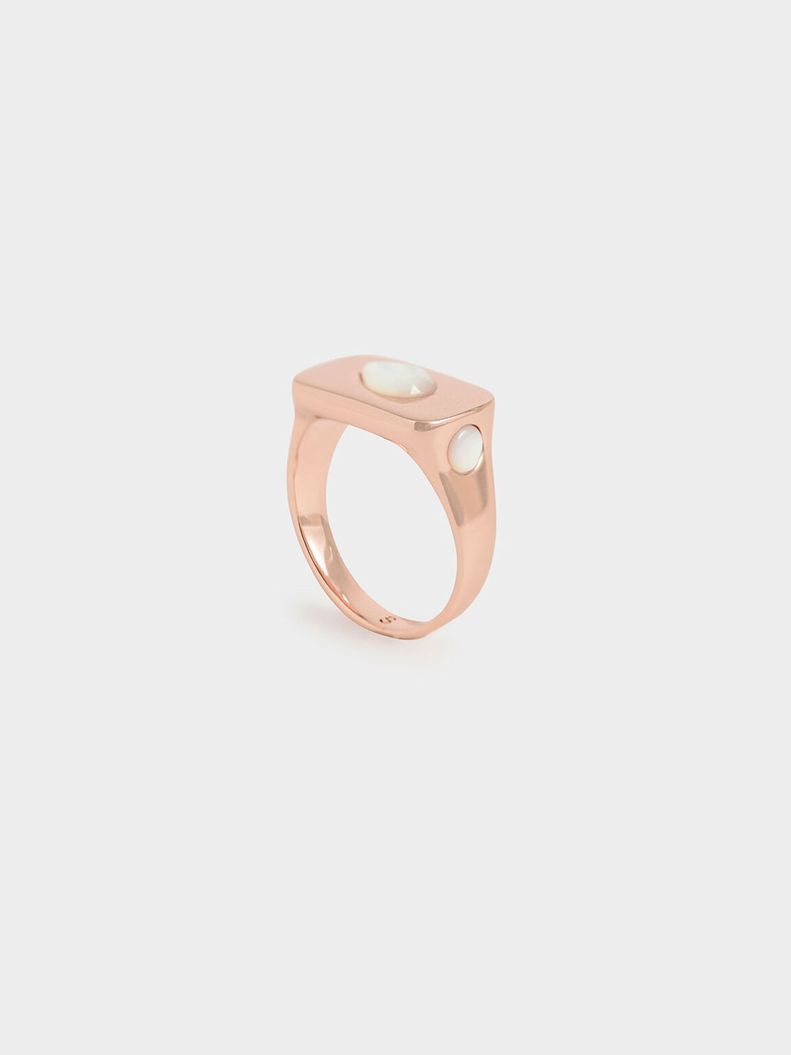 Moonstone Signet Ring, Rose Gold, hi-res