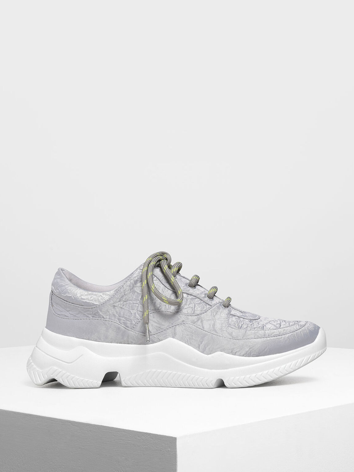 Chunky Sneakers, Silver, hi-res