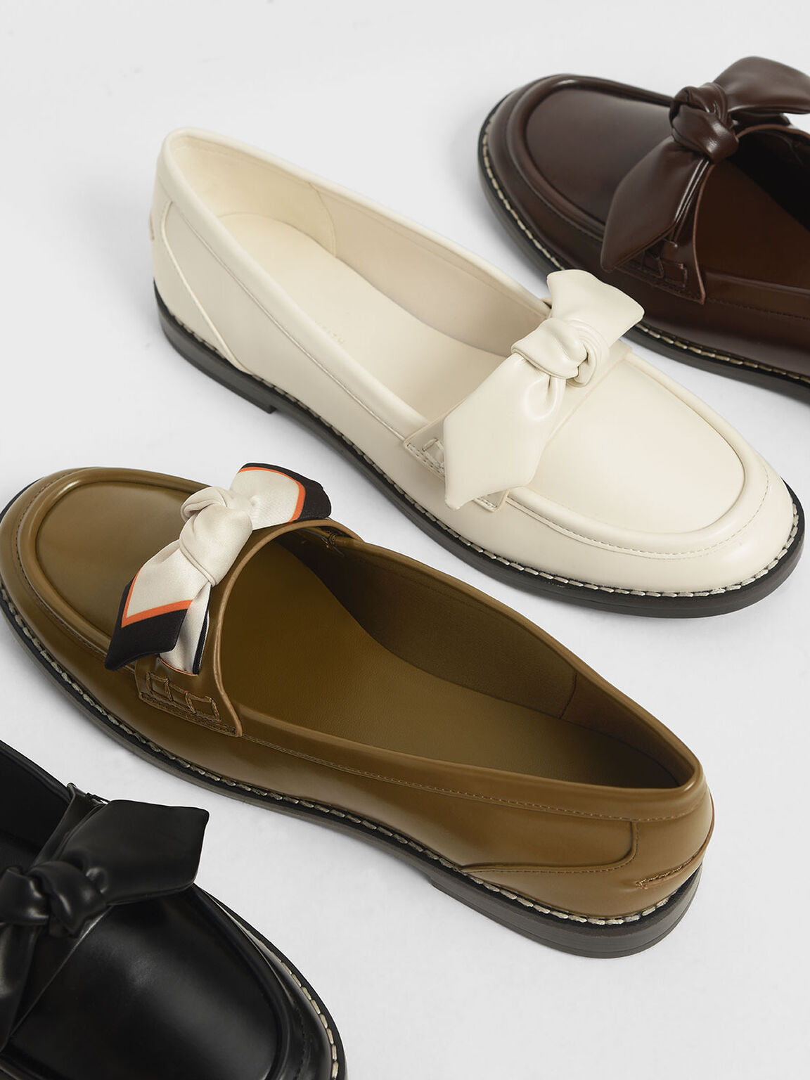 Bow Loafers, Dark Brown, hi-res