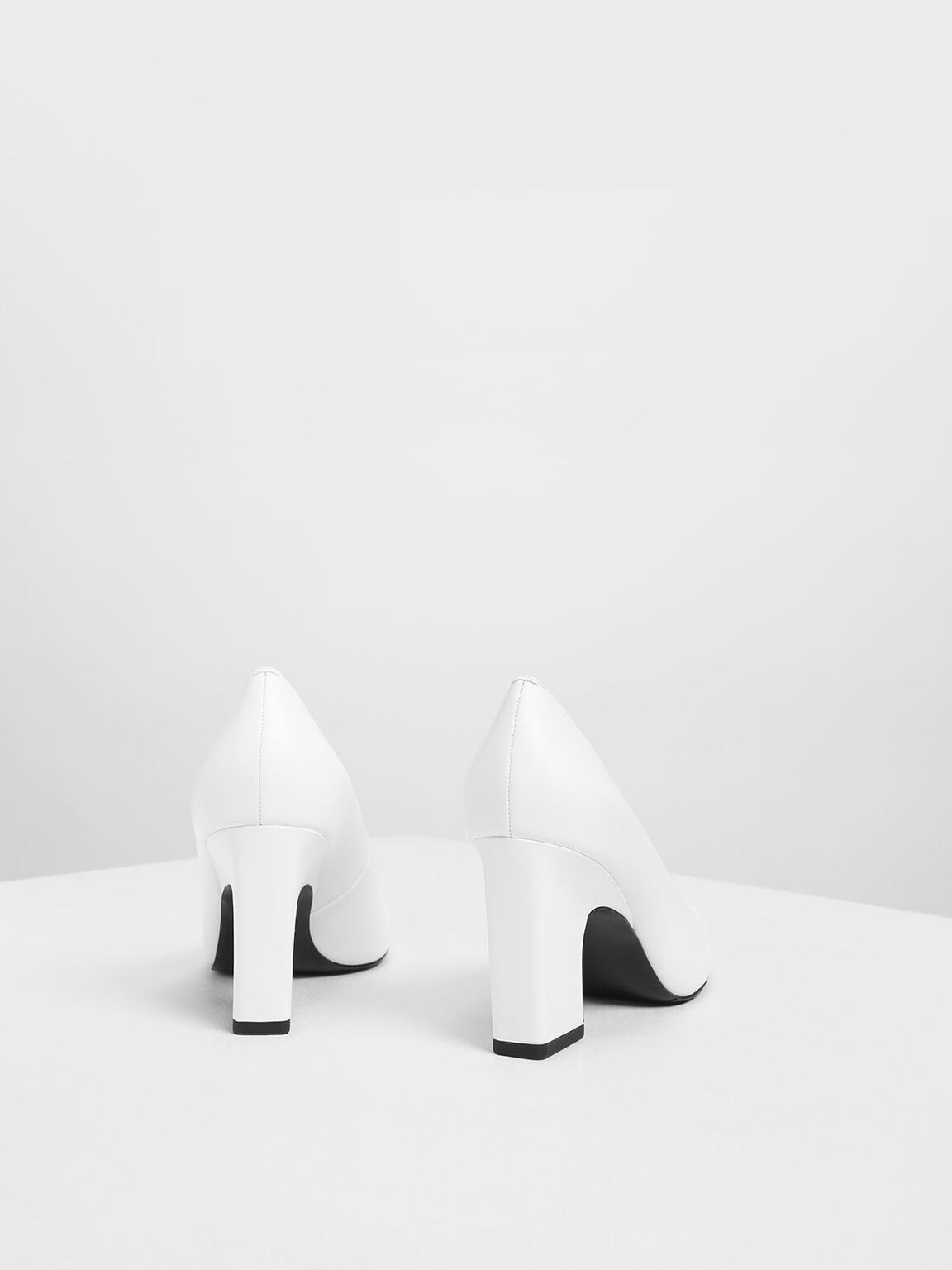 Blade Heel Pumps, White, hi-res