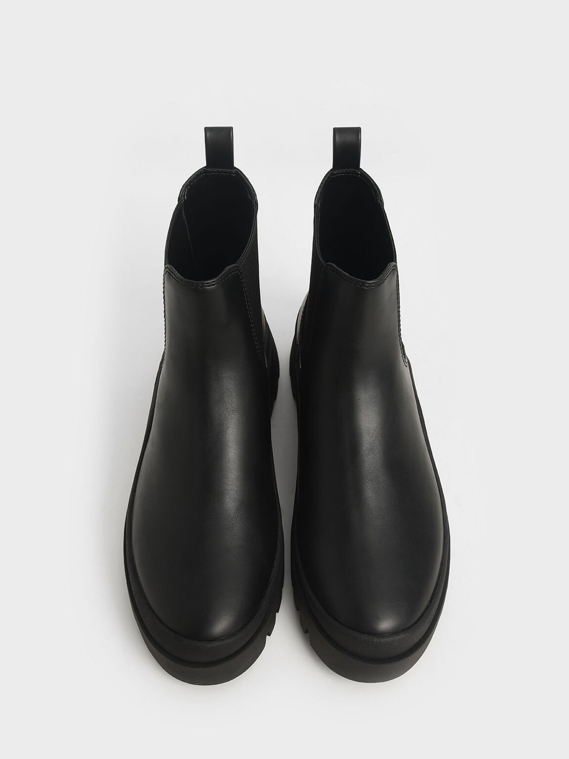 Chunky Chelsea Boots, Black, hi-res