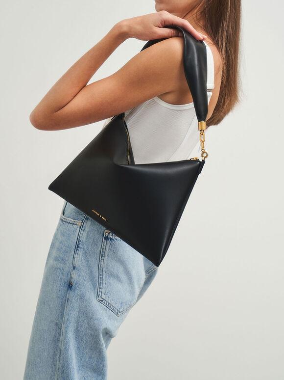 Hobo Bag, Black, hi-res