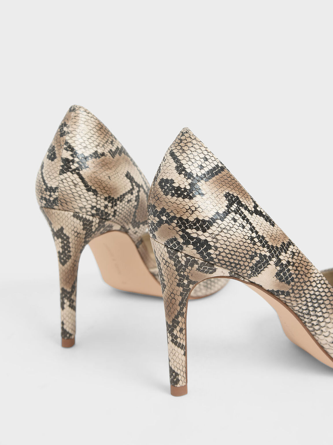 Snake Print D'Orsay Stiletto Pumps, Multi, hi-res