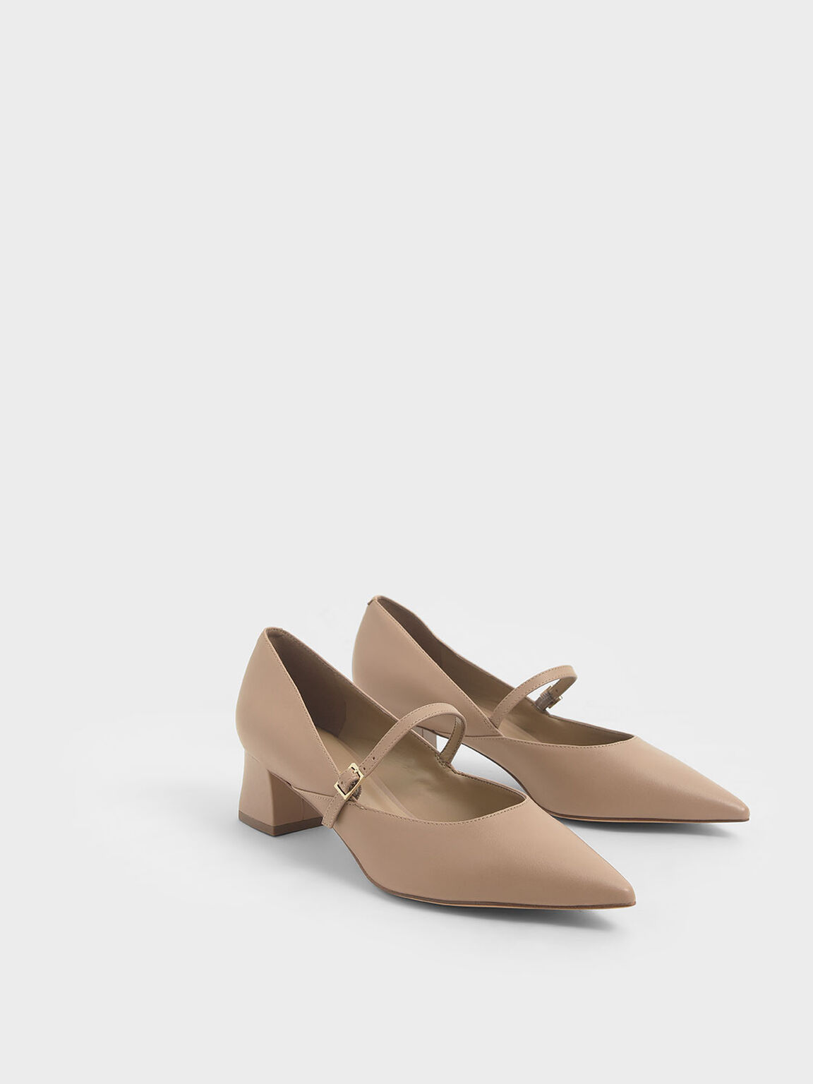 Mary Jane Pumps, Taupe, hi-res
