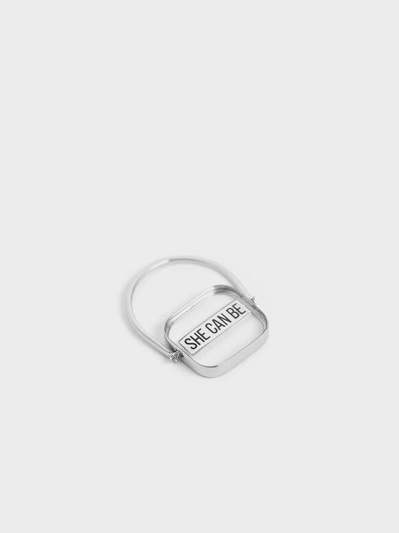 The Purpose Collection -  'She Can Be' Ring, Silver, hi-res