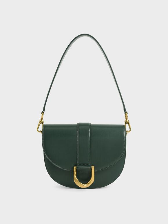 Gabine Saddle Bag, Dark Green, hi-res