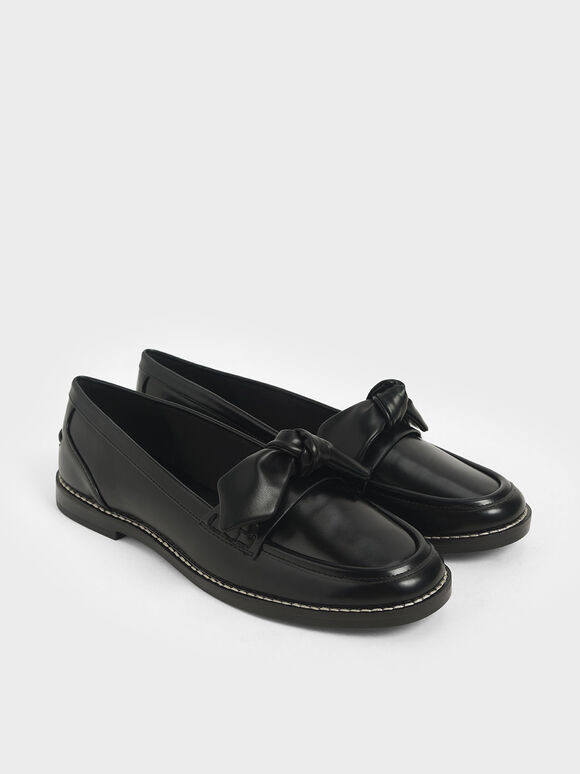 Bow Loafers, Black, hi-res
