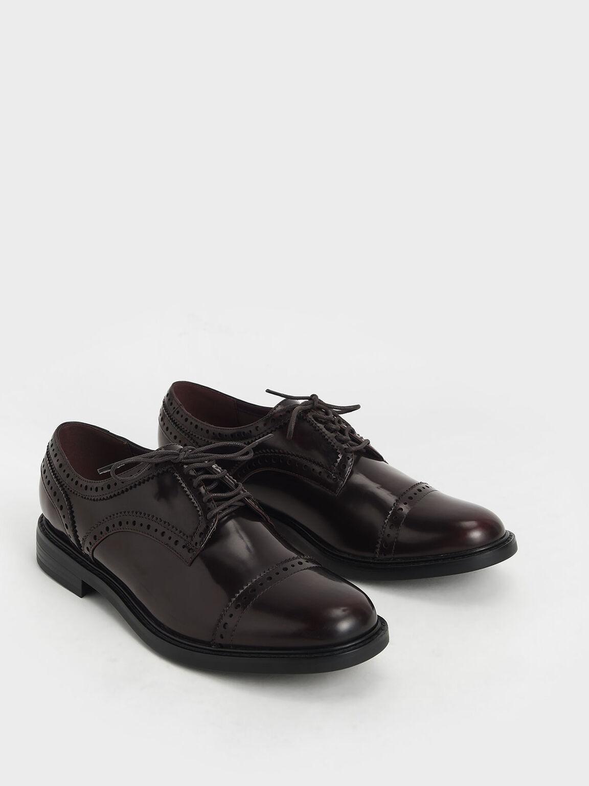 Classic Brogue Shoes, Burgundy, hi-res