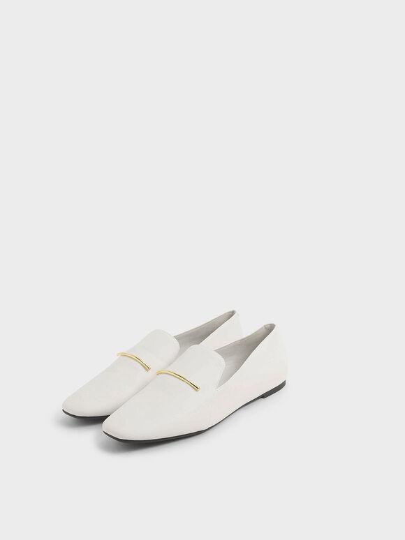 Embellished Loafers, Chalk, hi-res