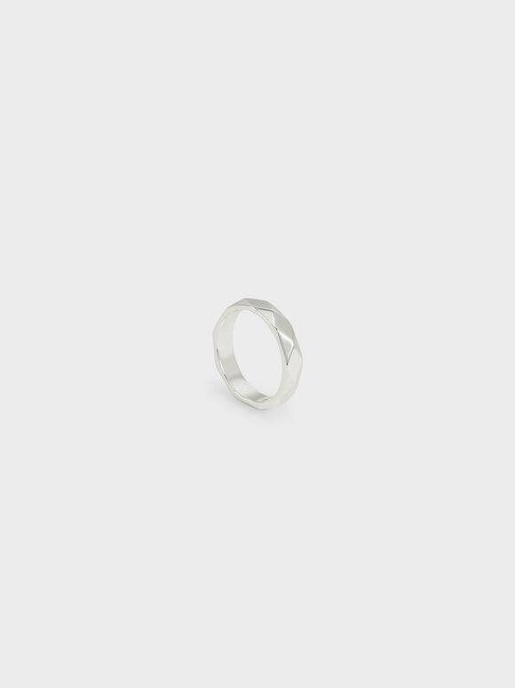 Geometric Ring, Silver, hi-res