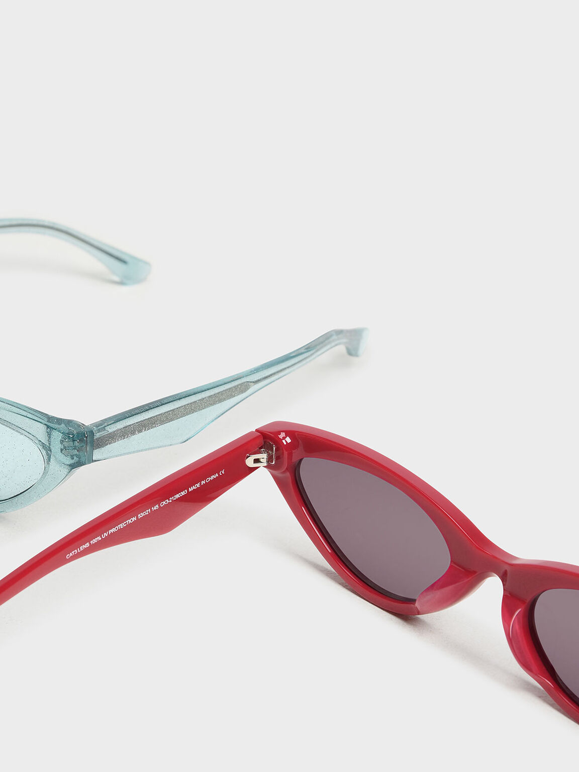 Acetate Oval Frame Sunglasses, Red, hi-res