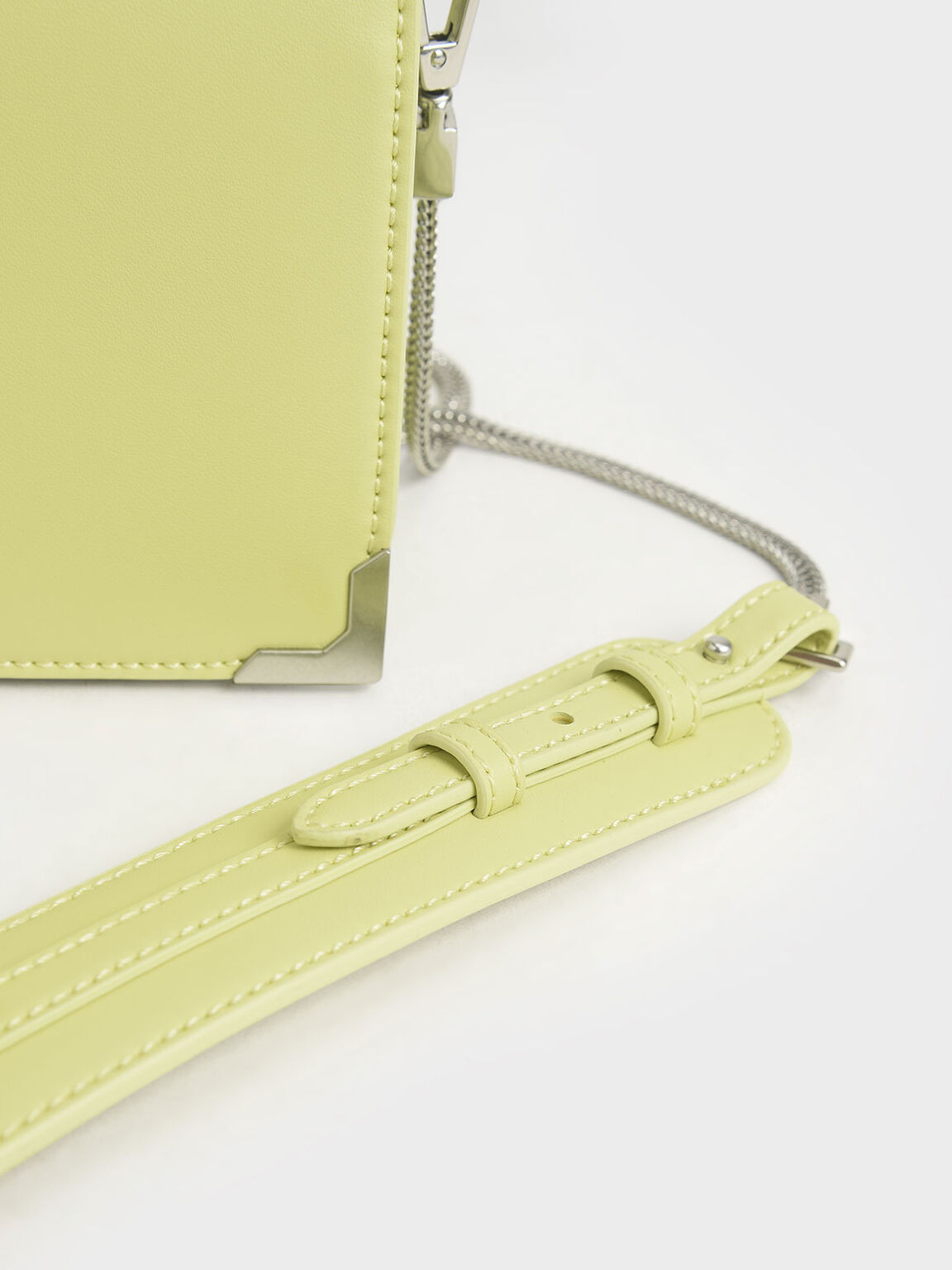 Metallic Edge Crossbody Bag, Lime, hi-res