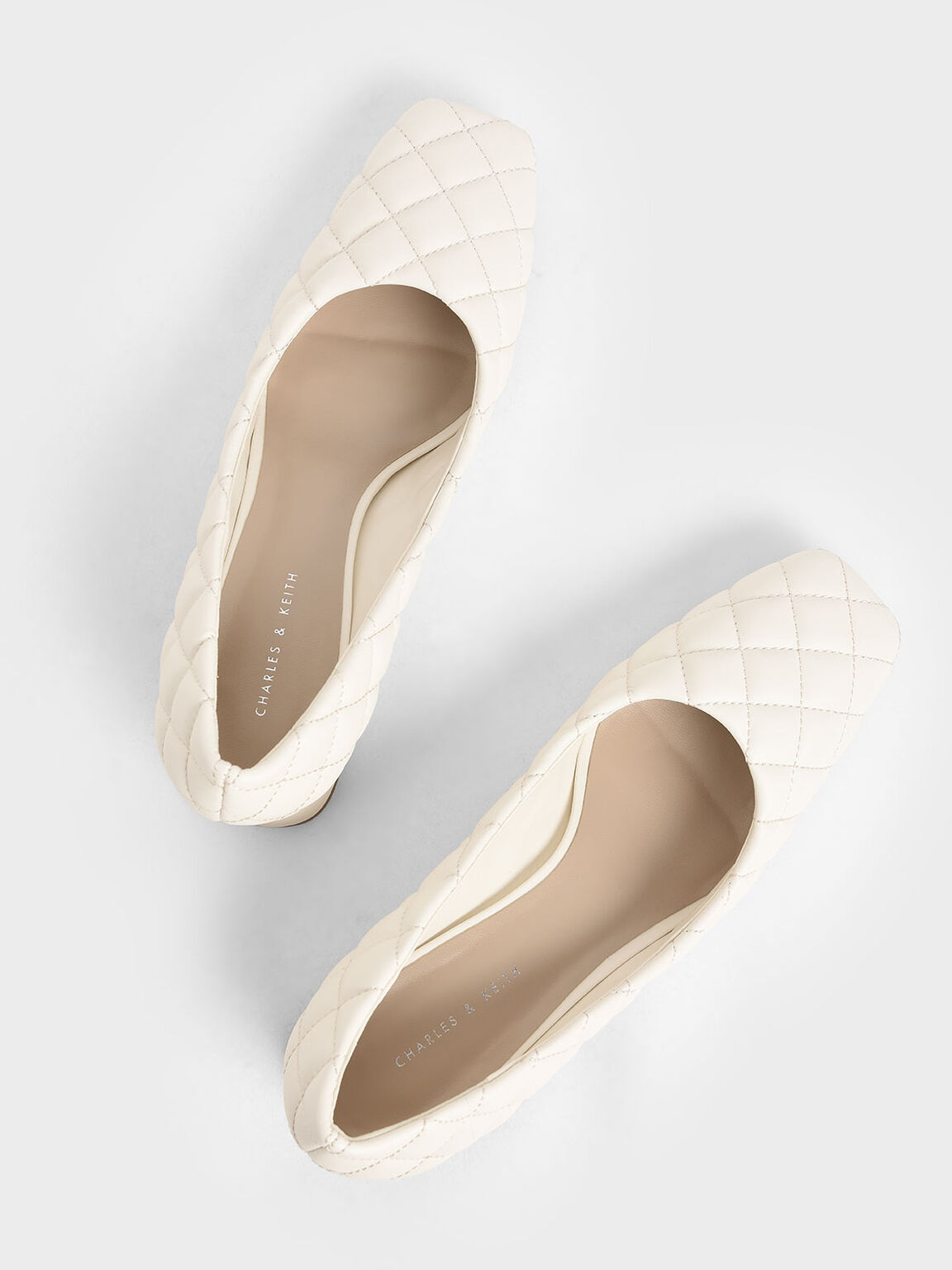 Quilted Pumps, Chalk, hi-res
