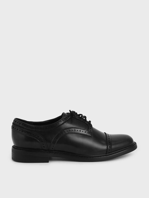 Classic Brogue Shoes, Black, hi-res